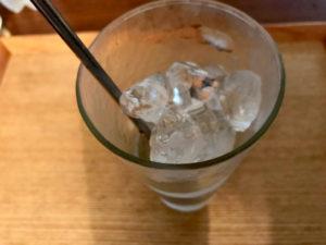 凍らせたグラス